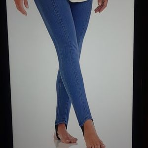 Plus Size Knit Denim Jeans with Stirrups